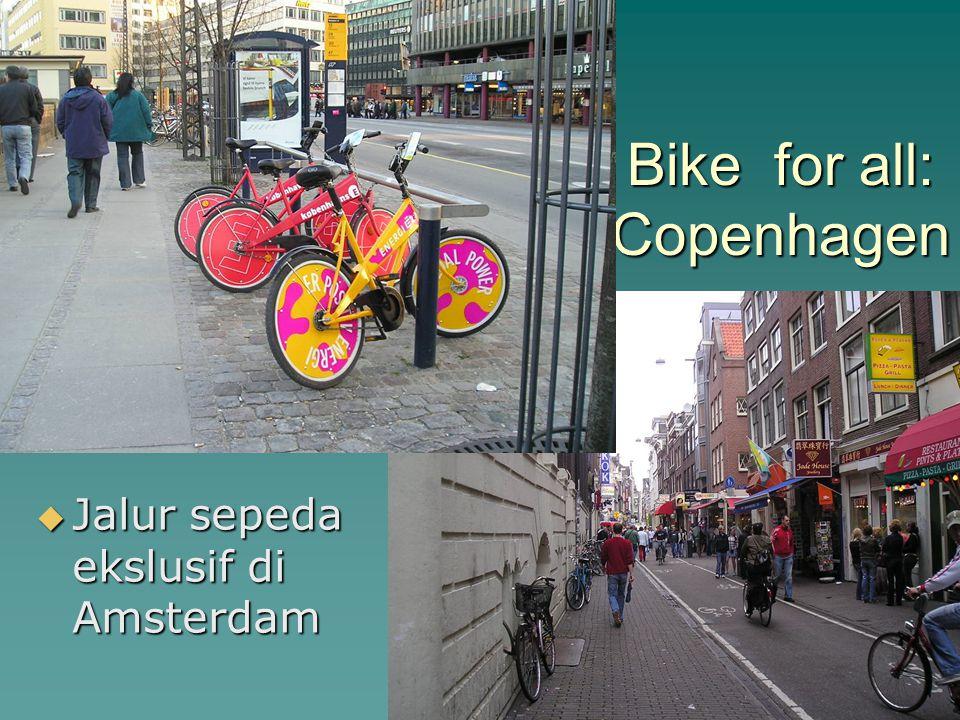 Bike for all: Copenhagen  Jalur sepeda ekslusif di Amsterdam