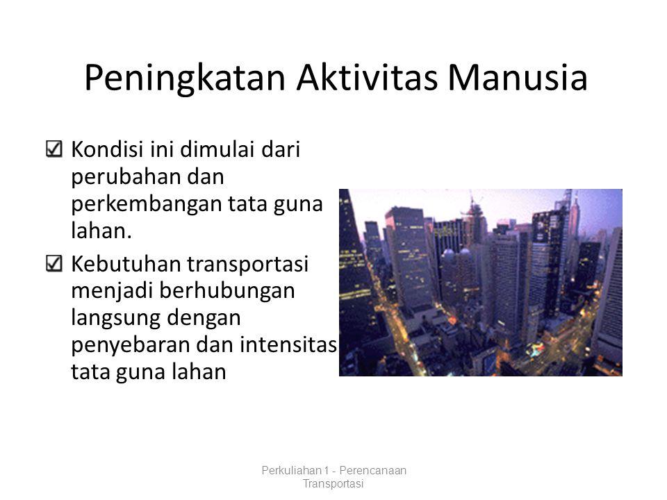 Klasifikasi Perencanaan Transportasi PERENCANAAN JANGKA PENDEK : Perencanaan Operasional (denah persimpangan, penyeberangan jalan, lokasi parkir, dll.).