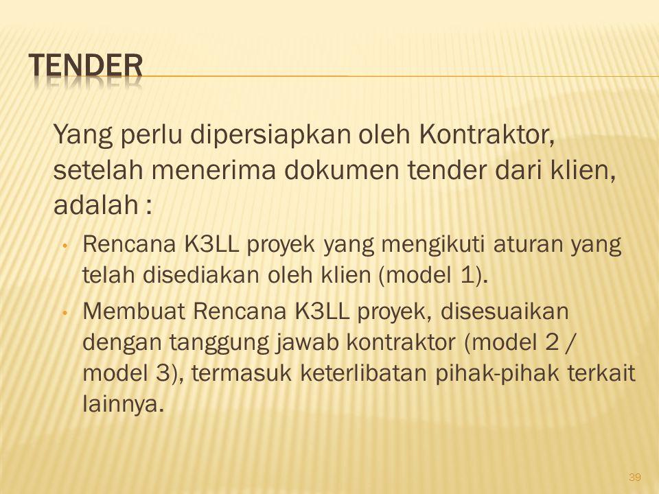 Rencana K3LL, harus dapat menggambarkan :  Efektifitas SMK3LL kontraktor dan sub kontraktor, sesuai dengan spesifikasi pekerjaan yang ditawarkan.