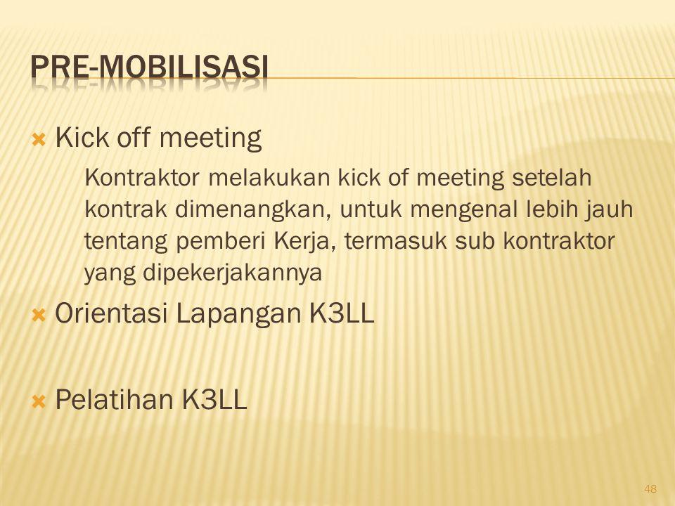 Materi yang dibahas meliputi :  Rencana K3LL proyek.