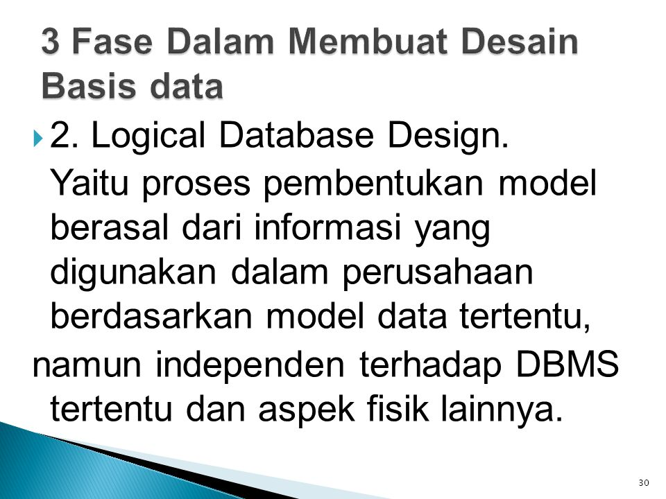  2. Logical Database Design.