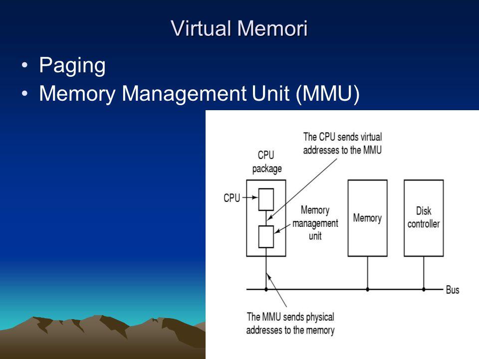 Virtual Memori Paging Memory Management Unit (MMU)