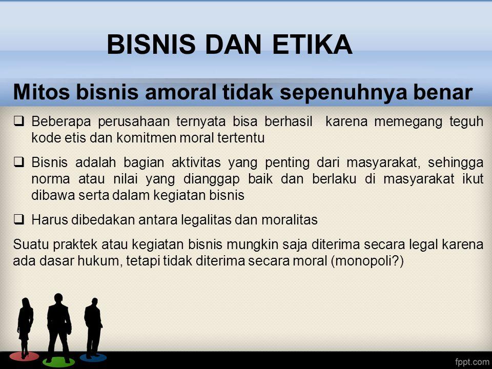 Sasaran dan Lingkup Etika Bisnis 1.