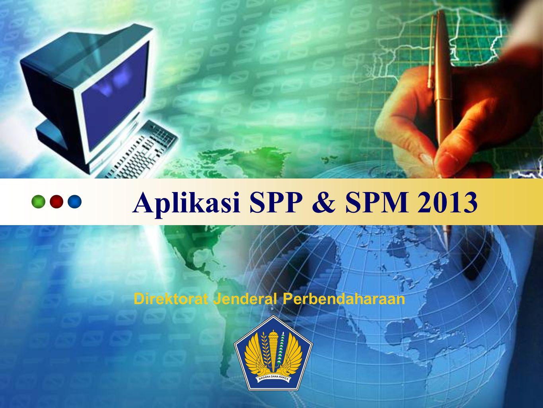 LOGO Aplikasi SPP & SPM 2013 Direktorat Jenderal Perbendaharaan