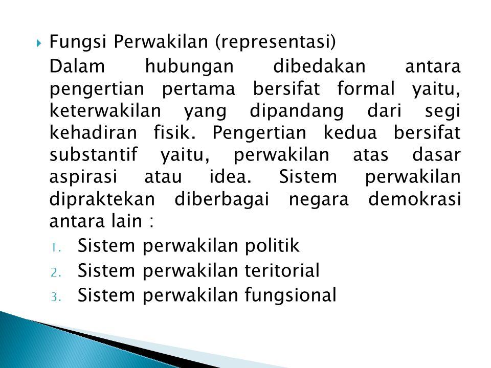  Fungsi Deliberatif dan Resolusi Konflik 1.