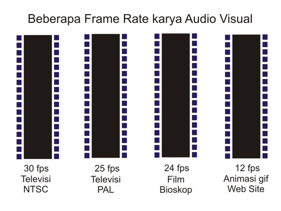 Karena rangkaian gambar itu diputar dengan kecepatan tinggi, maka timbulah suatu ilusi gerak yang halus, makin besar nilai frame rate suatu film atau video, maka semakin halus pergerakan gambar yang ditampilkan Karena pergerakan yang begitu cepat, maka penglihat atau pemirsa tidak menyadarinya atas pergerakan dari frame-frame tersebut