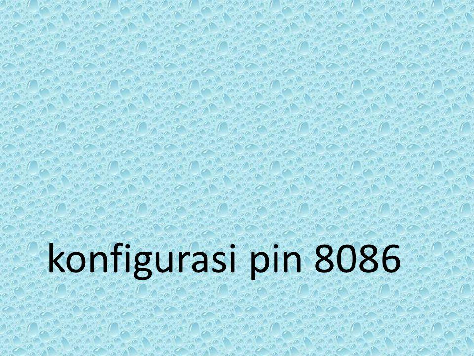 konfigurasi pin 8086