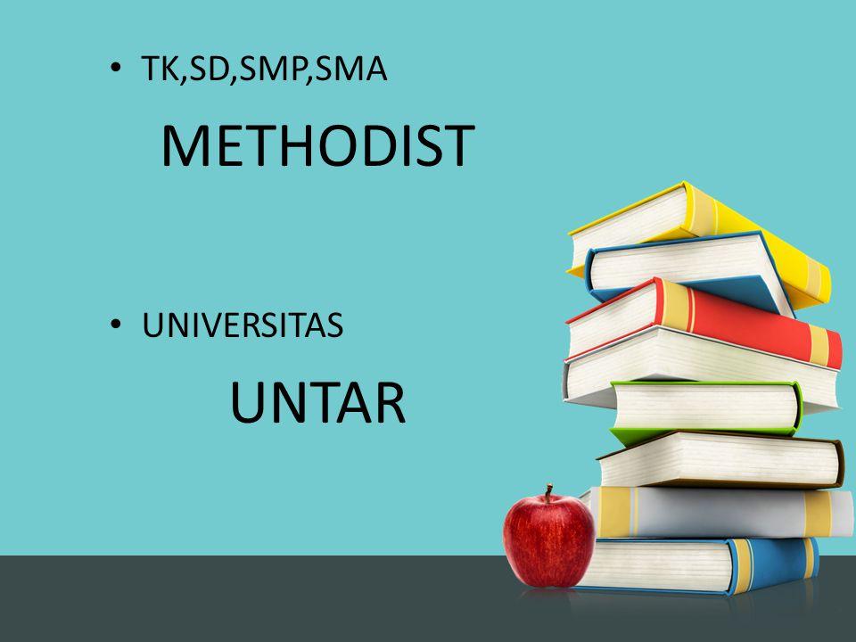 Dari Tk – SMA di methodist.Methodist sekolah kristen.