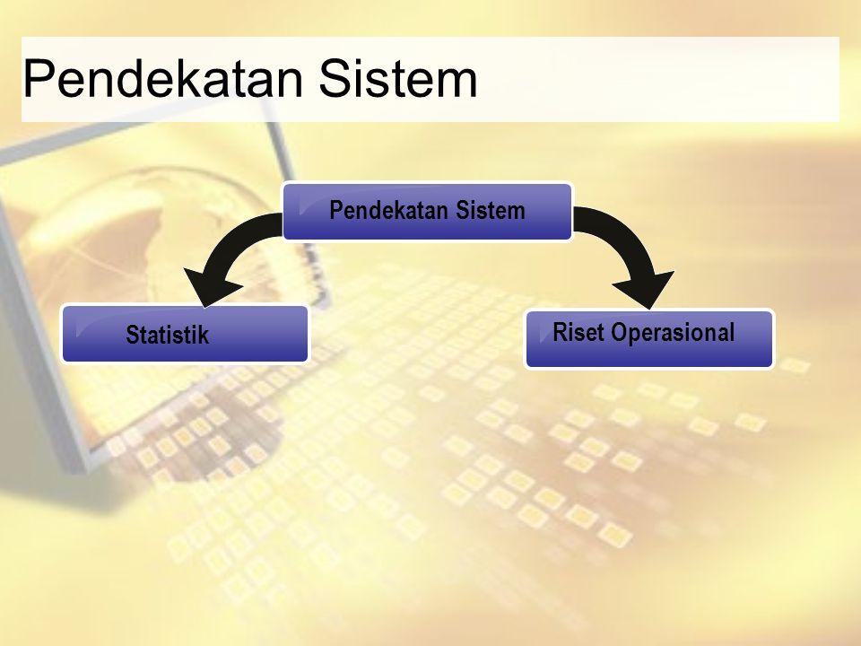 Pendekatan Sistem Riset Operasional Statistik