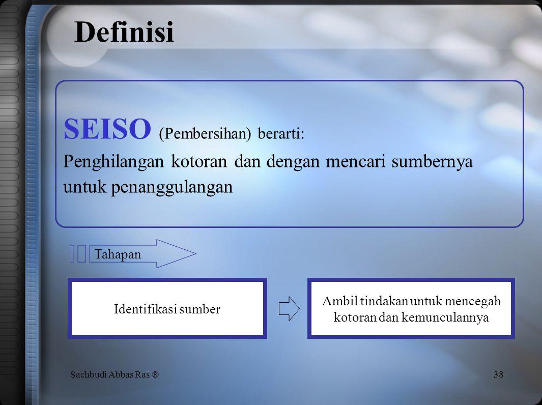 Seiso Aktivitas Pembersihan dari 5S 37