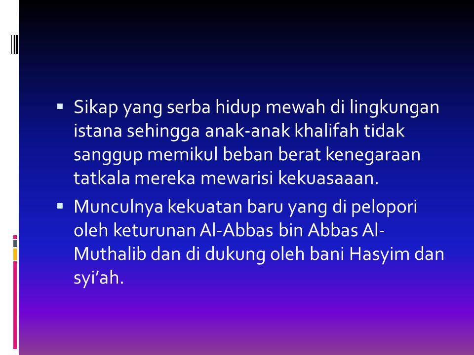 PERADABAN ISLAM PADA MASA DINASTI ABBASIYAH SEJARAH BERDIRINYA DINASTI ABBASIYAH  Dinasti Abbasiyah didirikan pada tahun 132 H/750 M, oleh Abul Abbas Ash-Shaffah, dan sekaligus sebagai khalifah pertama.