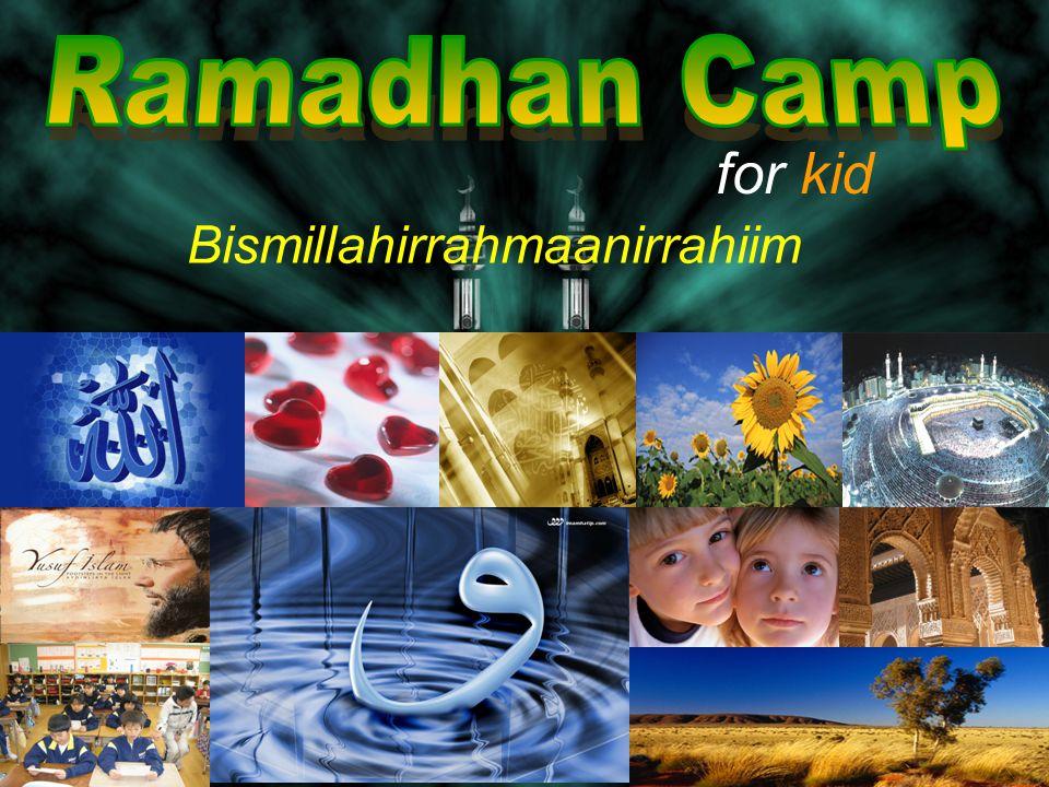 for kid Bismillahirrahmaanirrahiim