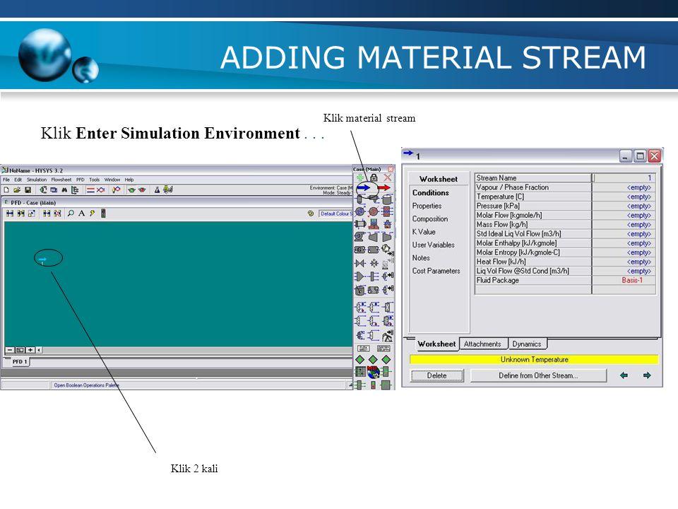 Enter Simulation Environment Click