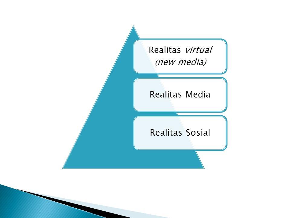Realitas Media  Media melibatkan moment dan society sebagai realitas lain yang membentuk media  Media menciptakan realitas dirinya sendiri, ketika ia menciptakan realitas yang lain  Dalam merintis realitas, media melibatkan hubungan produksi, distribusi dan konsumsi (Produksi realitas, distribusi realitas dan konsumsi realitas)