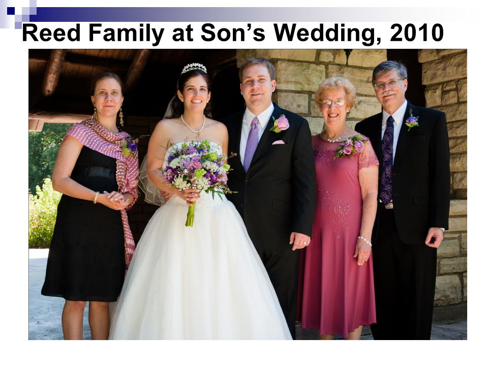 Reed Family at Son's Wedding, 2010