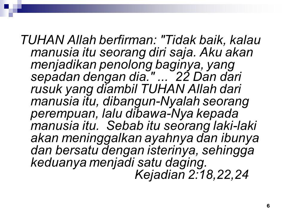 TUHAN Allah berfirman: