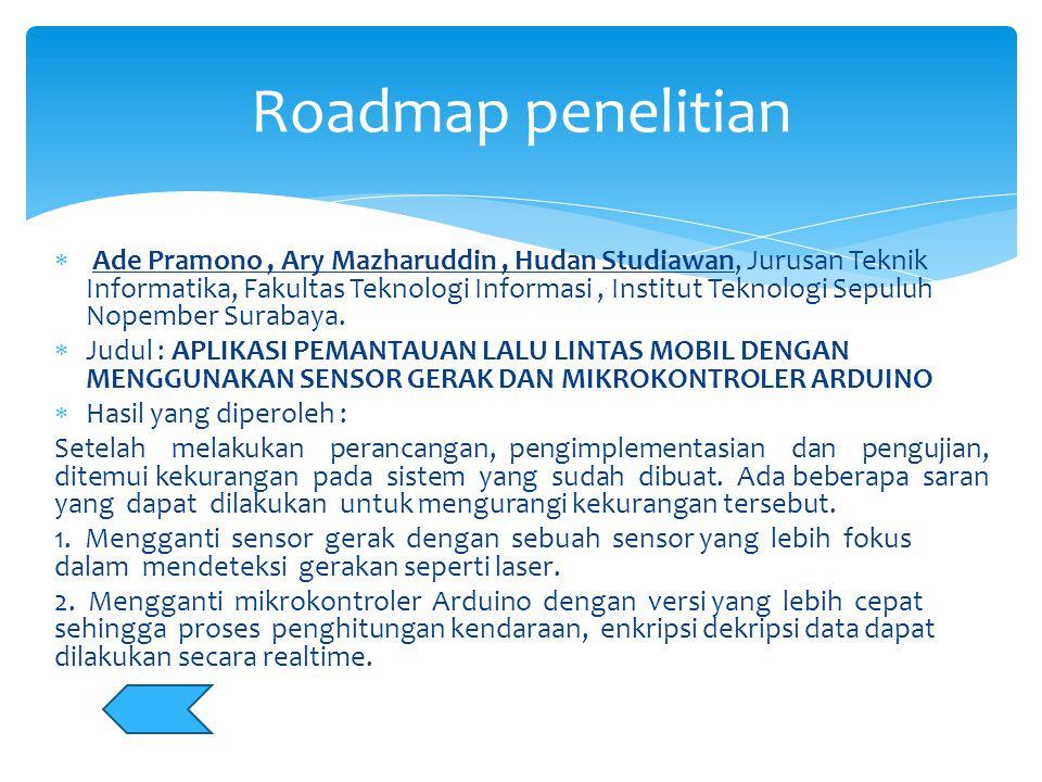  Ade Pramono, Ary Mazharuddin, Hudan Studiawan, Jurusan Teknik Informatika, Fakultas Teknologi Informasi, Institut Teknologi Sepuluh Nopember Surabay