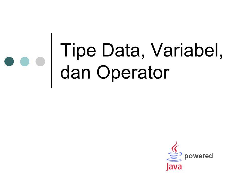 Materi Struktur Program Identifier Keyword Tipe Data Variabel Operator