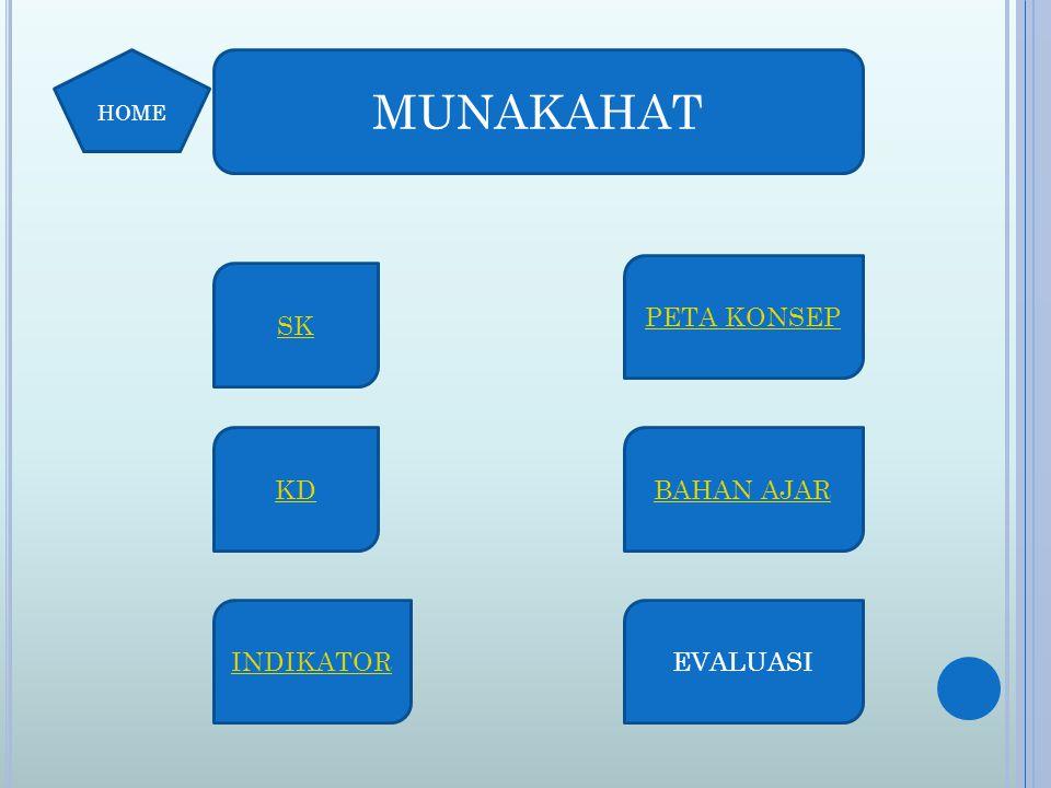Standar Kompetensi: Memahami hukum Islam tentang hukum keluarga BACK