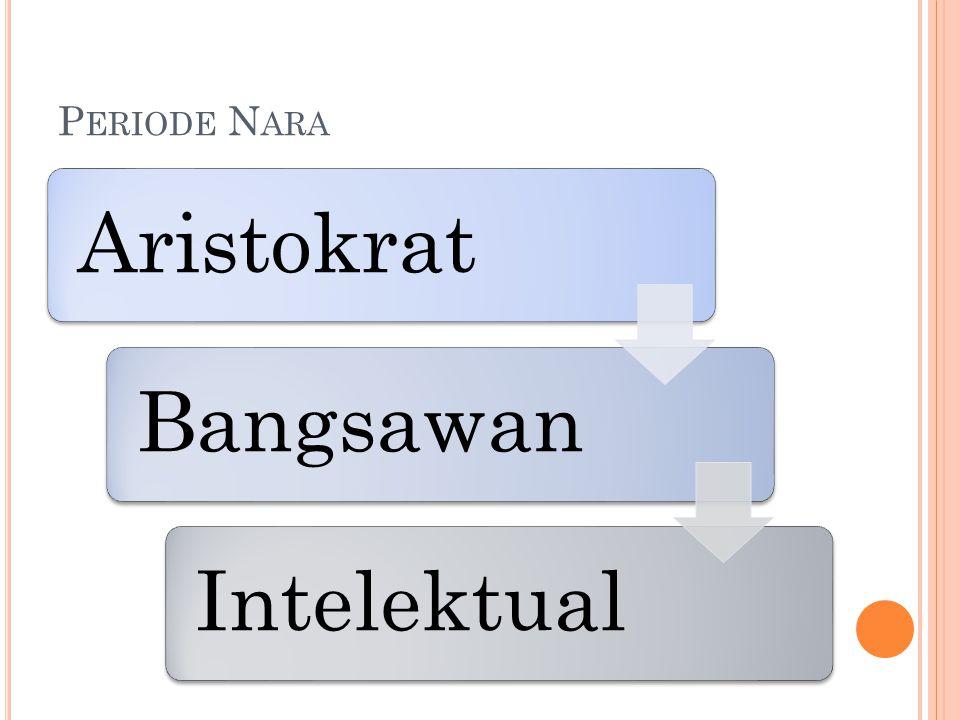 P ERIODE N ARA AristokratBangsawanIntelektual