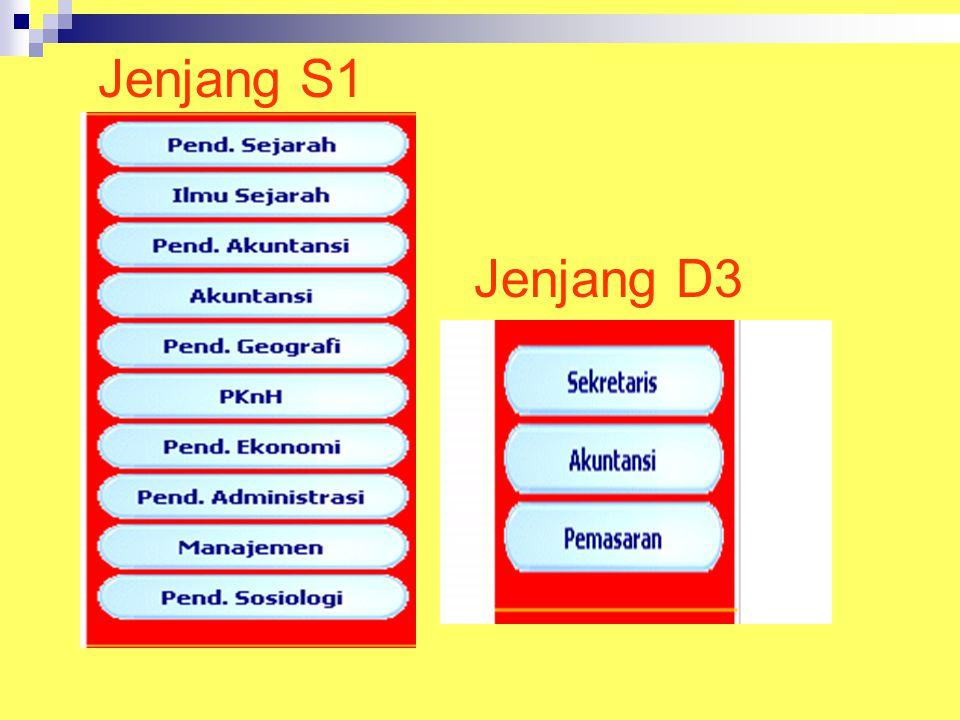 Jenjang S1 Jenjang D3