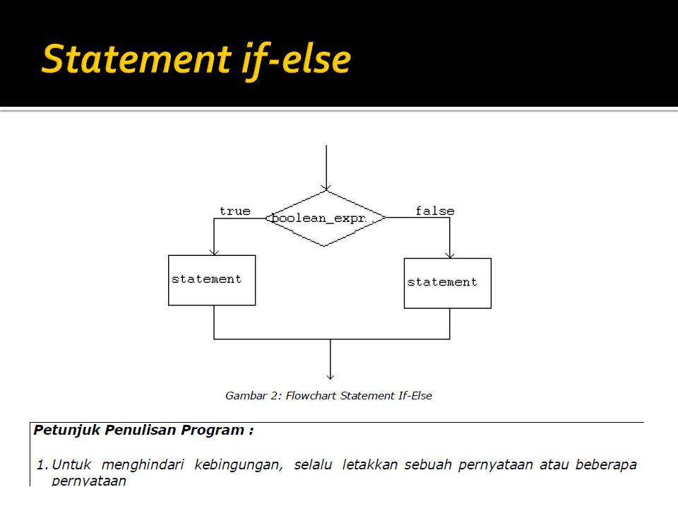  Pernyataan continue tidak berlabel (unlabeled) akan melewati bagian pernyataan setelah pernyataan ini dituliskan dan memeriksa eksepresi logika (boolean) yang mengkontrol pengulangan.