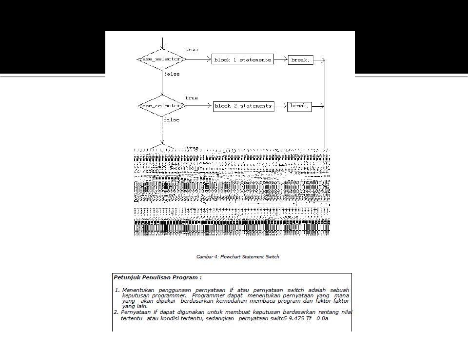  Struktur kontrol pengulangan adalah berupa pernyataan dari Java yang mengijinkan kita untuk mengeksekusi blok code berulang- ulang sesuai dengan jumlah tertentu yang diinginkan.