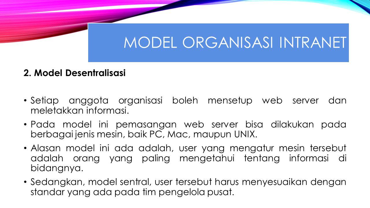 MODEL ORGANISASI INTRANET 2.
