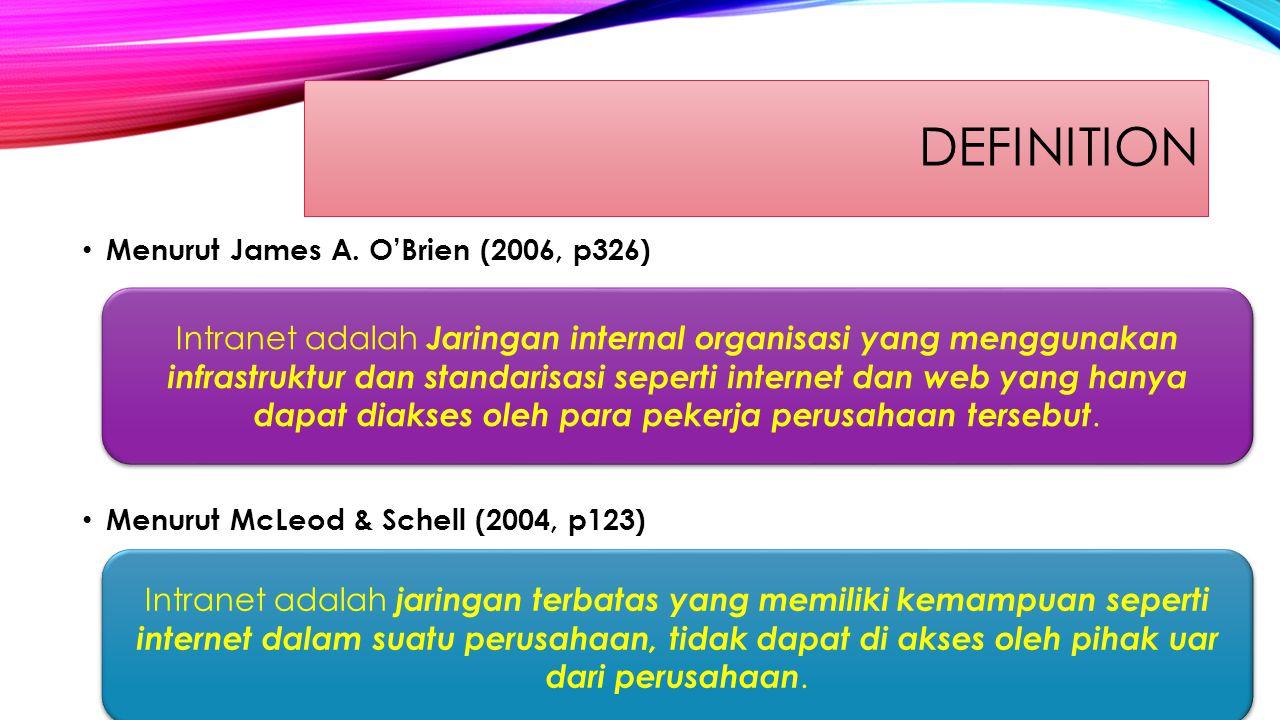 DEFINITION Menurut James A.
