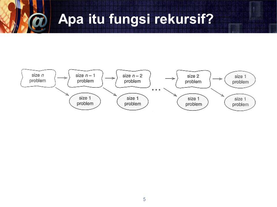 Format Fungsi Rekursif if this base case solve it else redefine the problem using recursion case 6