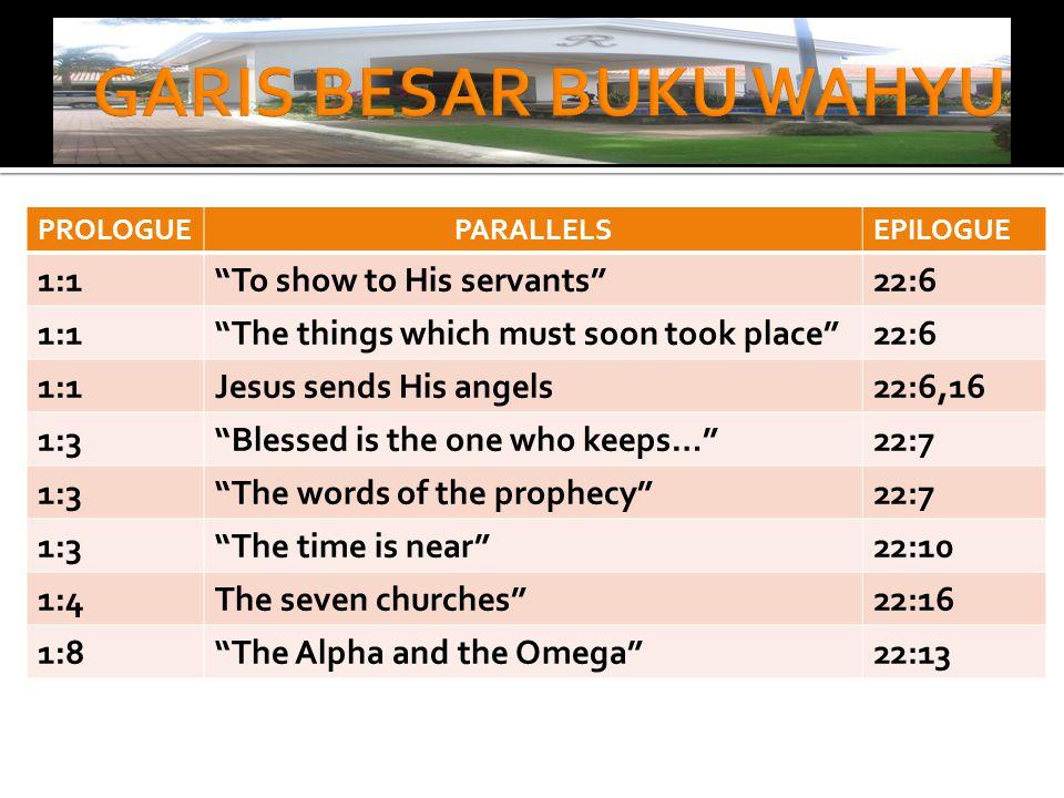  Ayat 1:4,5  SALAM DARI BAPA:  Dari Dia yang ada, dan yang sudah ada, dan yang akan datang.