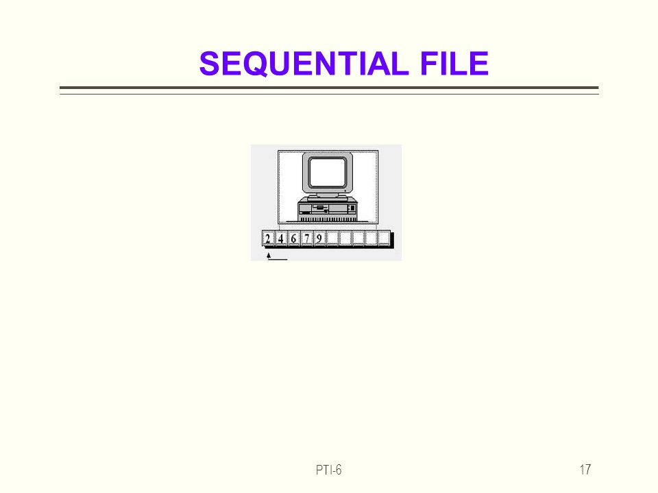 PTI-617 SEQUENTIAL FILE