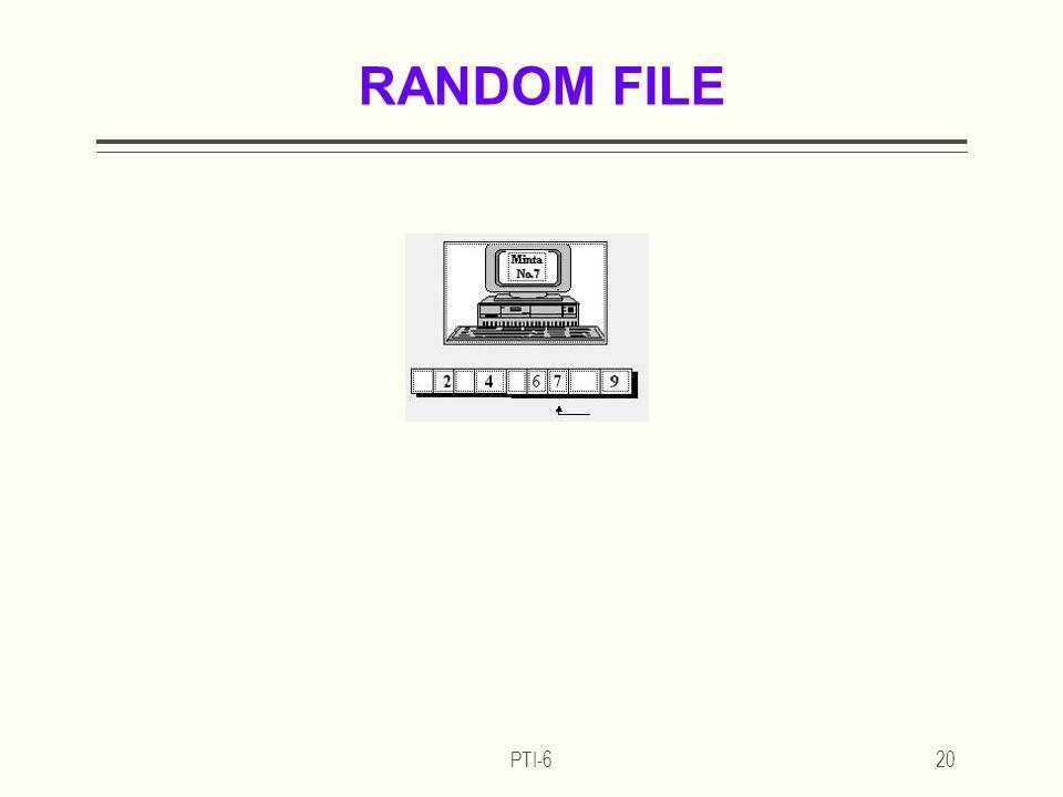 PTI-620 RANDOM FILE