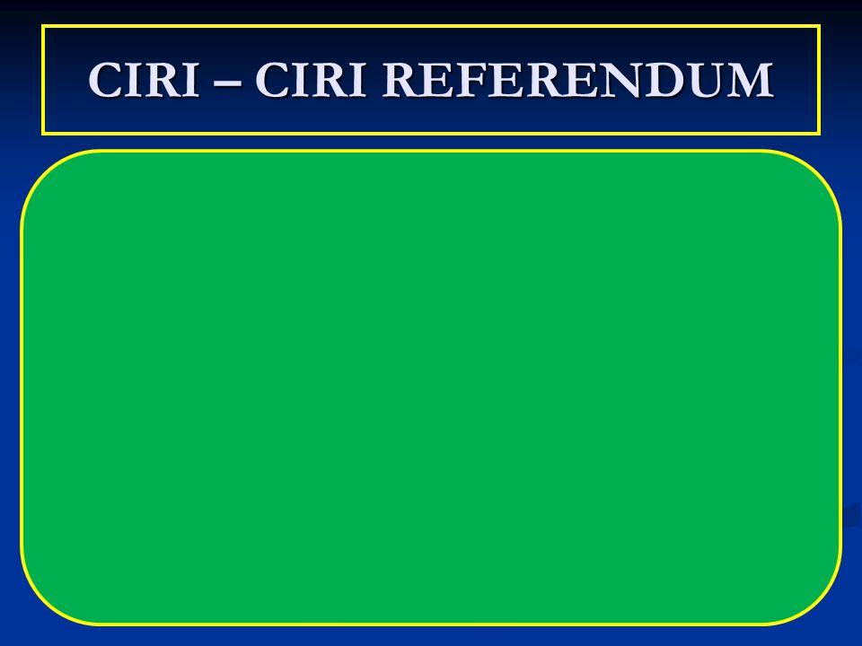 CIRI – CIRI REFERENDUM