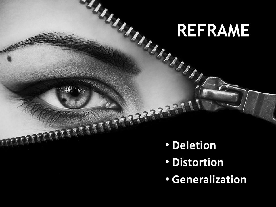 REFRAME Deletion Distortion Generalization