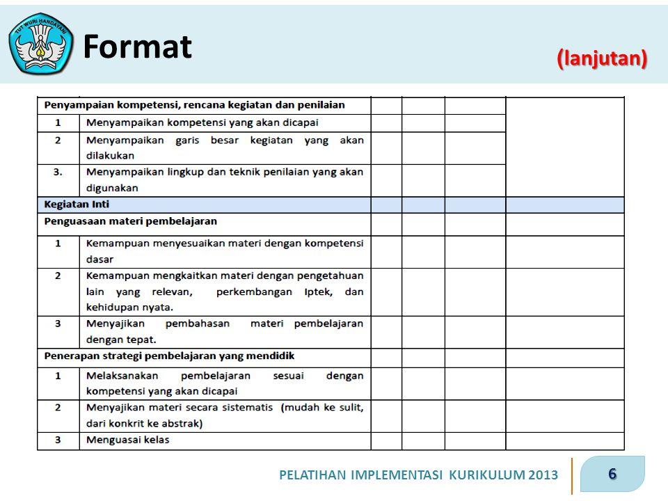 6 ( lanjutan) Format