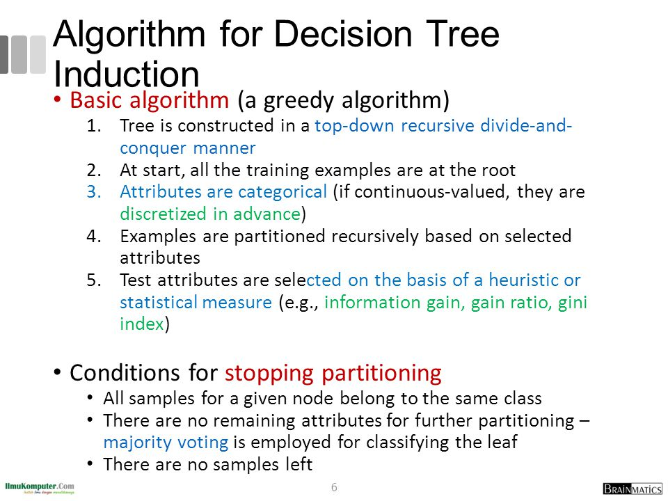 Issues Affecting Model Selection Accuracy classifier accuracy: predicting class label Speed time to construct the model (training time) time to use the model (classification/prediction time) Robustness: handling noise and missing values Scalability: efficiency in disk-resident databases Interpretability understanding and insight provided by the model Other measures, e.g., goodness of rules, such as decision tree size or compactness of classification rules 77