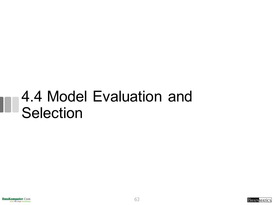 4.4 Model Evaluation and Selection 63