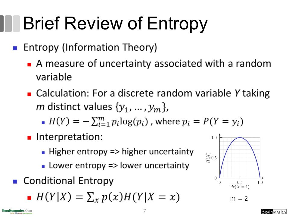 Brief Review of Entropy m = 2 7
