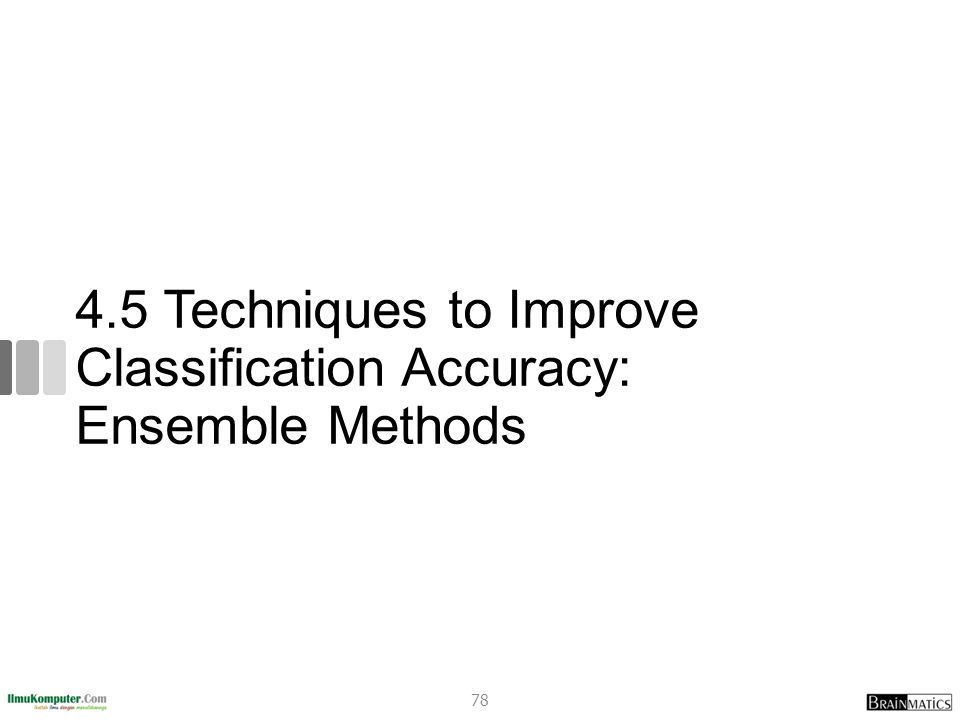 4.5 Techniques to Improve Classification Accuracy: Ensemble Methods 78