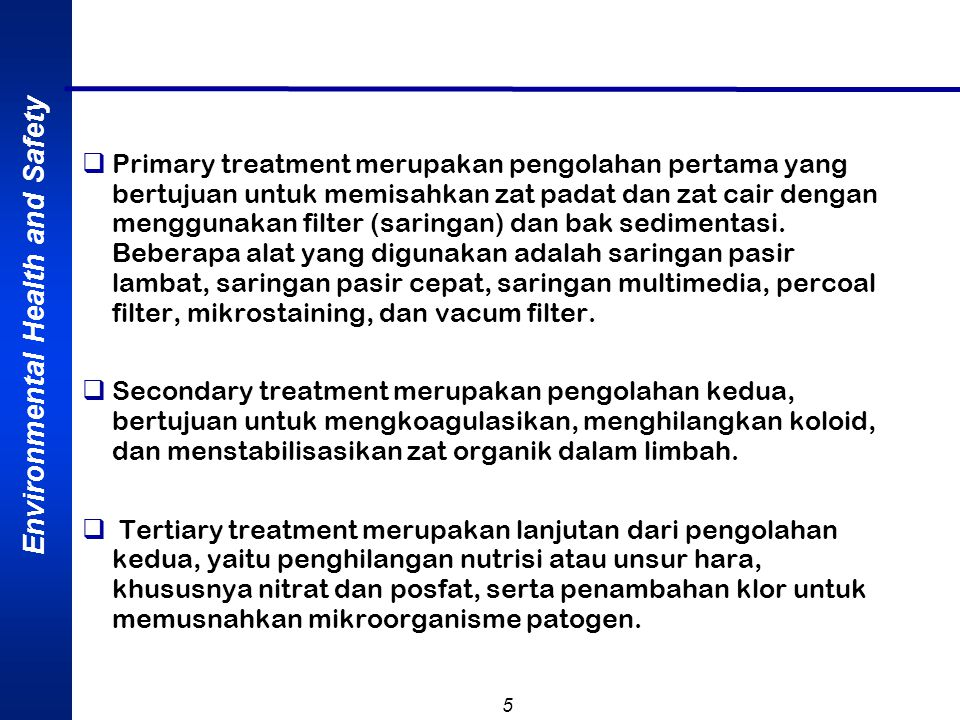Environmental Health and Safety 6