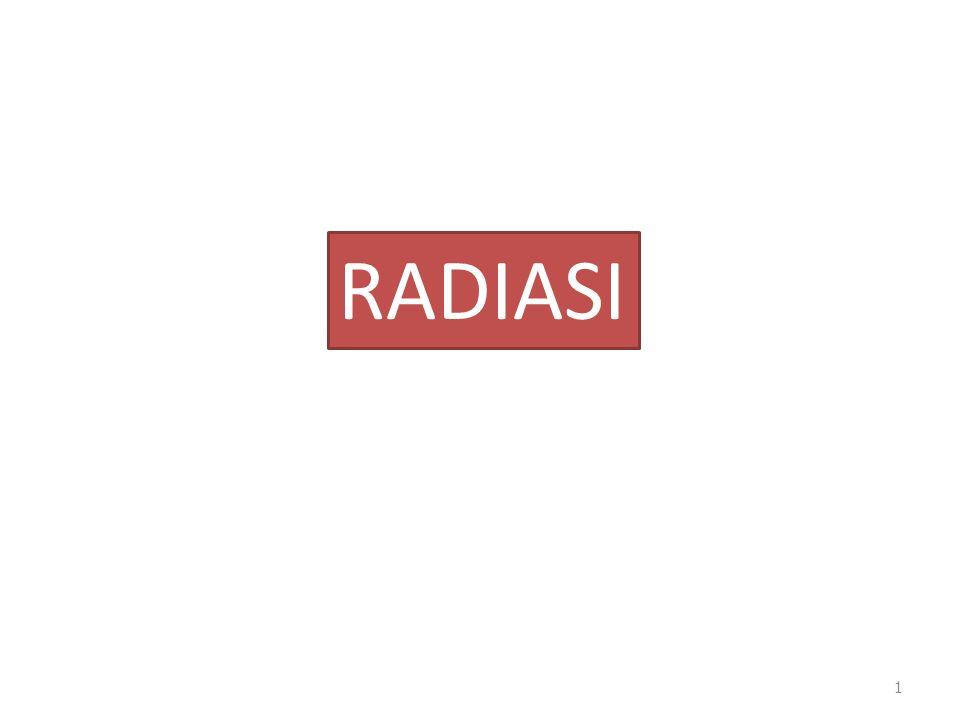 Konversi : Dosis ekivalen = dosis absorbsi x quality factor Sievert = Gray x QF Rem = rad x QF 1 Gray = 100 rad = 1 J/kg 1 Sv = 100 rem 1 rad = 1.15 roentgen = 0,01 Gray 1 roentgen = 0,87 rad Dosis radiasi : jml energi yg diserap oleh jaringan tiap satuan massa pd tempat pengukuran( satuan rad ) 22