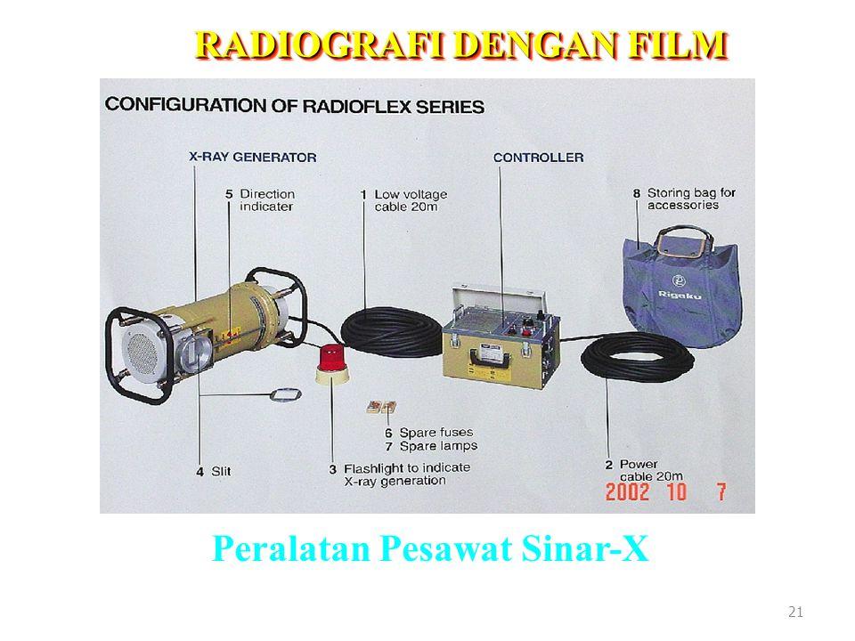 RADIOGRAFI DENGAN FILM Peralatan Pesawat Sinar-X 21