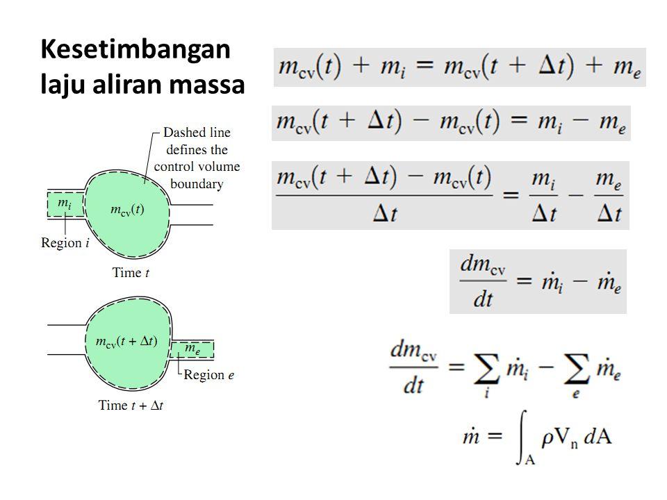 Heat exchanger Peralatan yang mengalirkan dua fluida tanpa terjadi pencampuran fluida Q = 0 W= 0  E k = 0  E p = (perhatikan boundary condition dari CV)