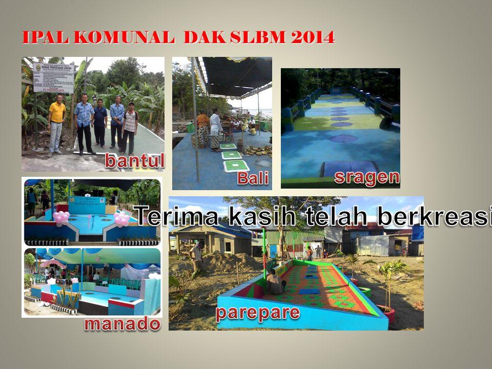 IPAL KOMUNAL DAK SLBM 2014