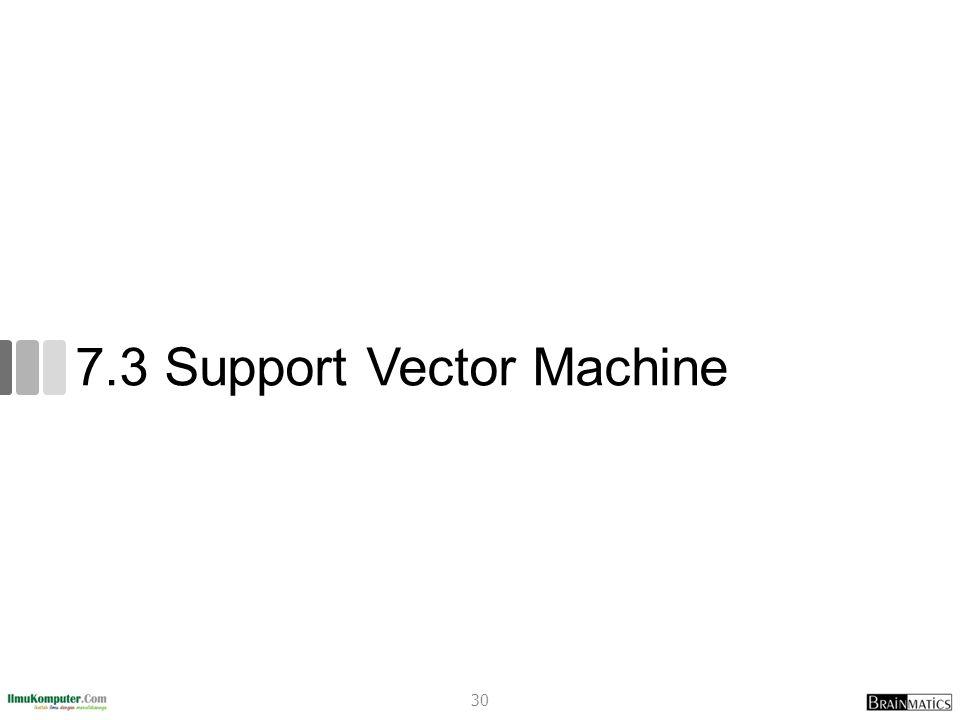 7.3 Support Vector Machine 30