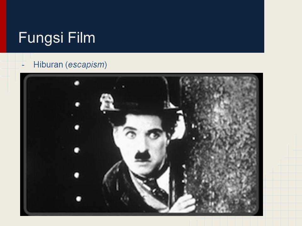 Fungsi Film -Hiburan (escapism)