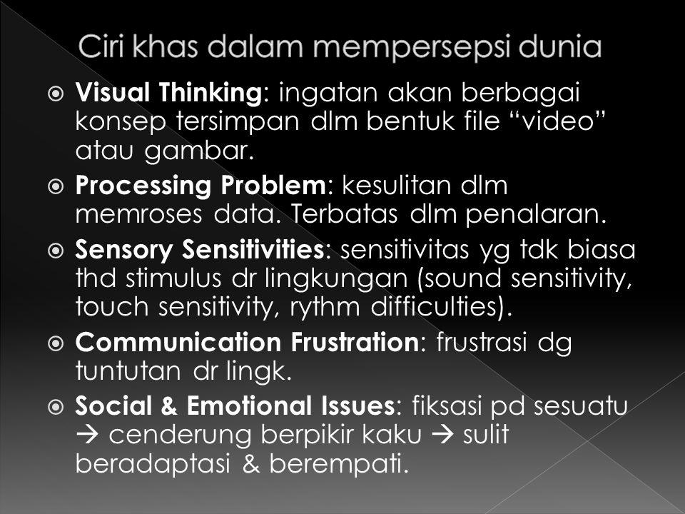  Problems of Control : kesulitan mengontrol diri sendiri.