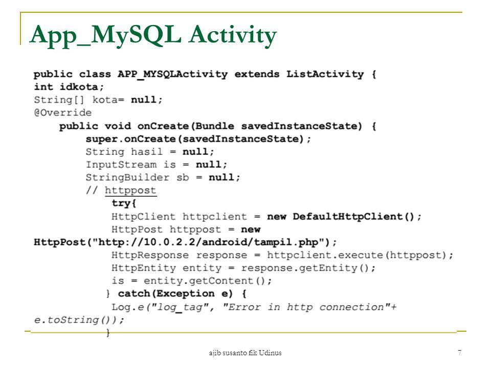 ajib susanto fik Udinus 7 App_MySQL Activity