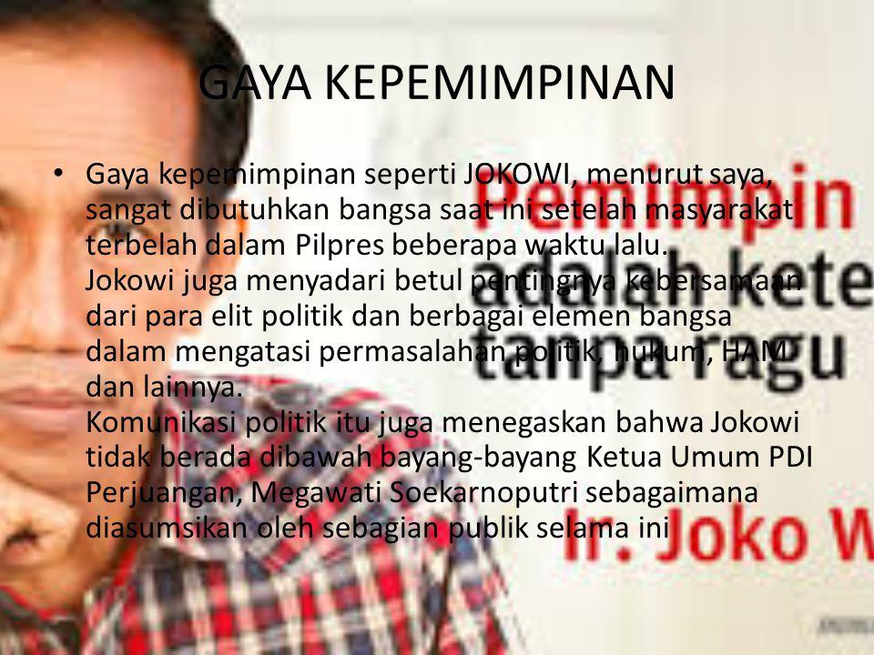 Permasalahan Menagih Janji-Janji Jokowi-JK Periode 100 hari Pemerintahan Jokowi-JK telah dilalui dengan berbagai kebijakan-kebijakan yang sangat jauh dari apa yang menjadi visi misi dan program Jokowi-JK yang dirumuskan baik dalam revolusi mental, Trisakti, dan Nawacita.